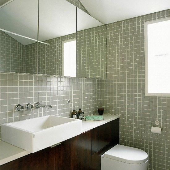 Bathroom with freestanding bath and patchwork accessories | housetohome.co.uk | Mobile