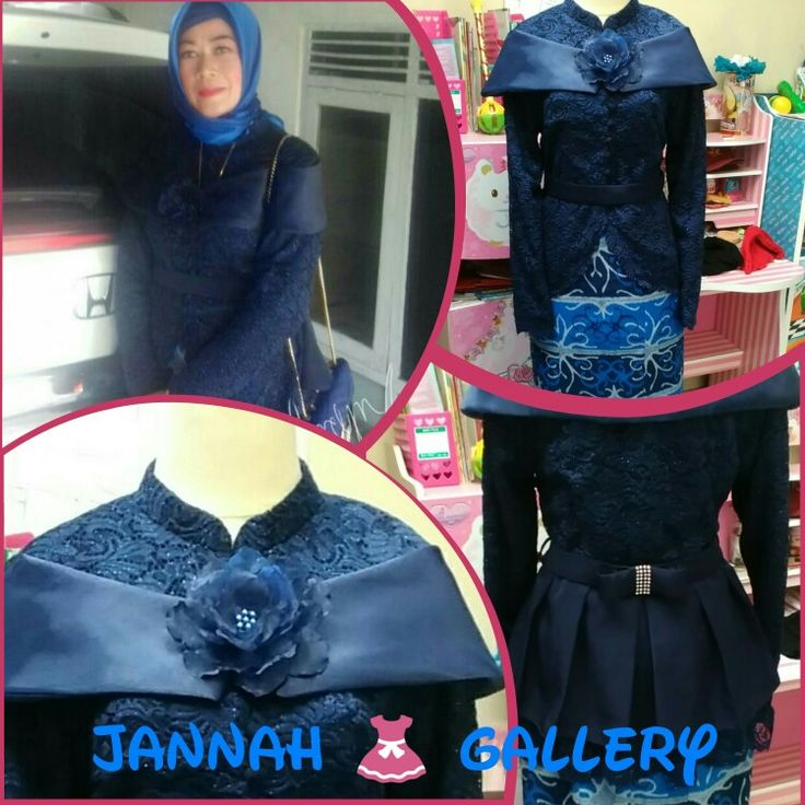 Navy Lace flower#made by  Jannah gallery#080917#