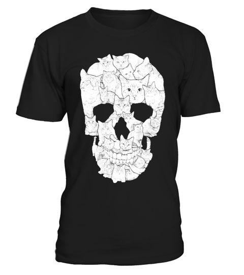 Sketchy Cat Skull | Teezily | Acquistate, create e vendete dei prodotti che vi rappresentano