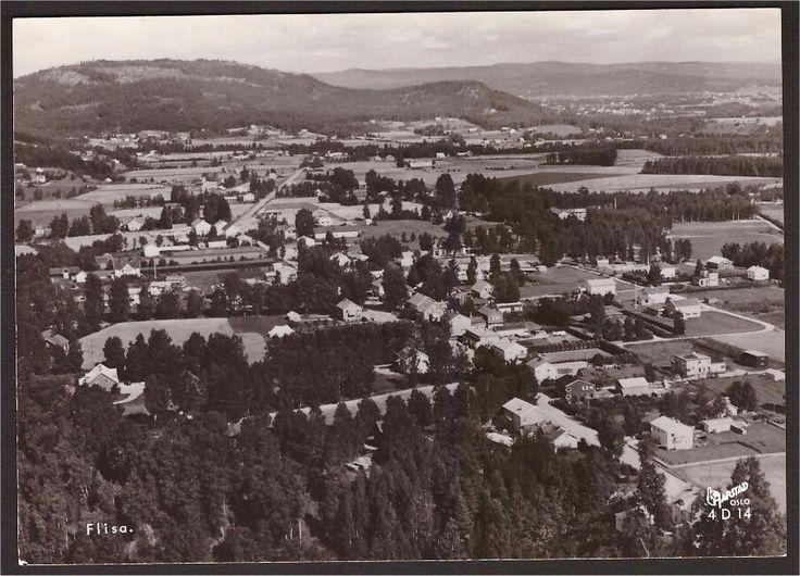 Hedmark fylke Åsnes kommune Flisa. Utg Harstad forlag 1950-tallet