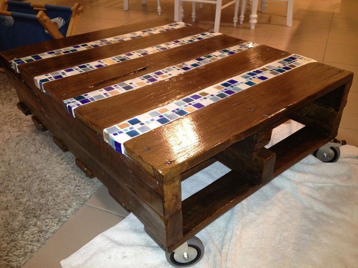 Pallet Mosaic Coffee Table