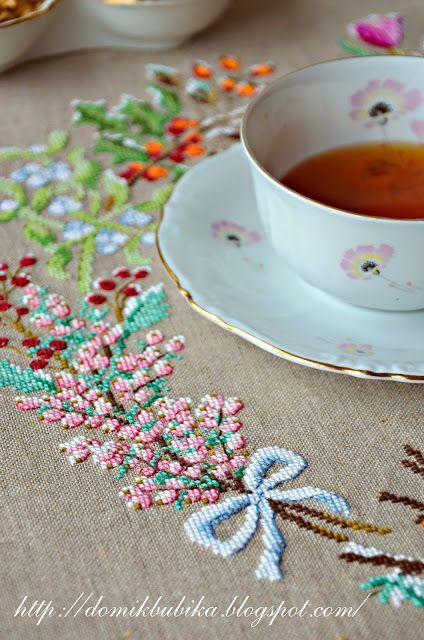 Домик Бубика: Зимняя скатерть/ Winter tablecloth