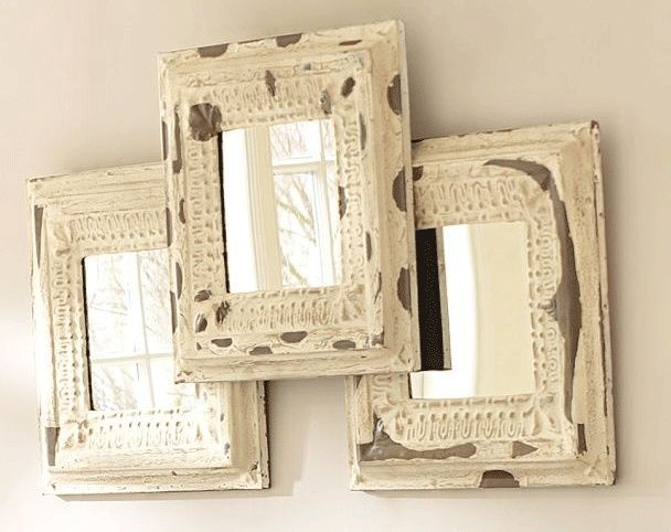 Overlapped Pottery Barn Noelle Set Of 3 Mirrors Home
