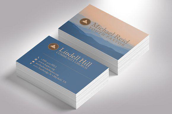 Church Business Card Photoshop Business Card Photoshop Business Cards Creative Templates Photoshop Template Design