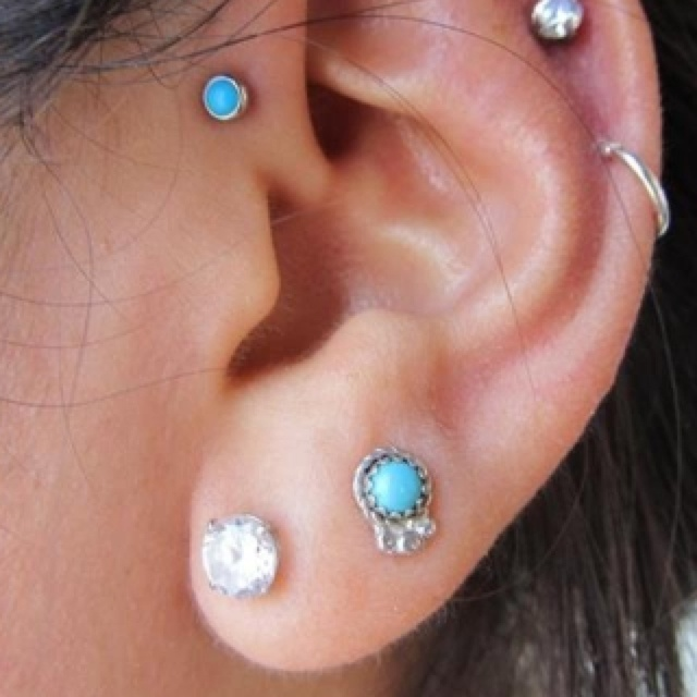 double lobe tragus pinna cartilage auricle piercings pinterest posts in love and the. Black Bedroom Furniture Sets. Home Design Ideas
