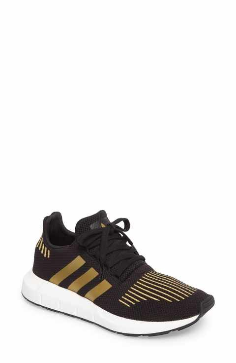 bbab2ff37 Size 8 Color  black and gold adidas Swift Run Sneaker (Women ...