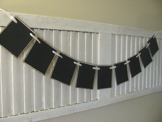 Chalk Board Blank Banner Bunting Garland with by EncoreBanners