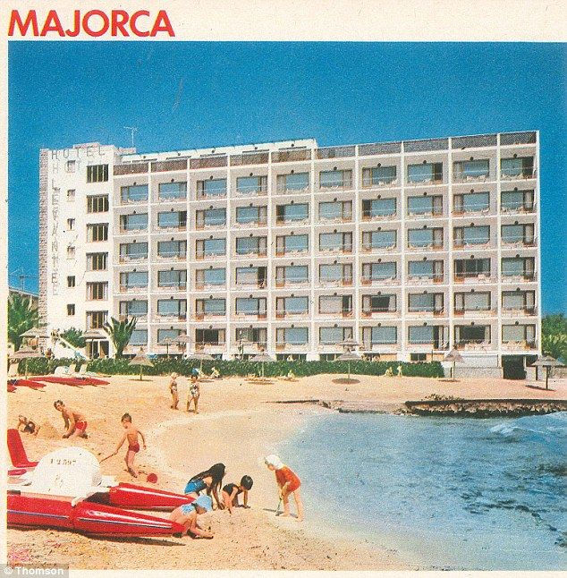 Luxury: A Majorca hotel with a group of children playing in the water. Majorcan holiday resorts have grown rapidly in the half century of Thomson trips