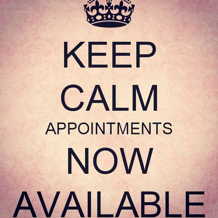 Good morning!! I have appointments now open for Thursday