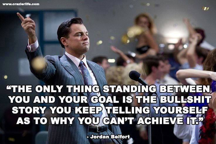Success Quote from the Wolf of Wallstreet
