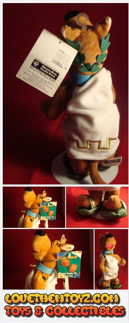 UNIQUE TOY & CARTOON COLLECTIBLES TOY & CARTOON COLLECTIBLES SCOODY-DOO ROMAN TOGA-BEANIE-PLUSH-NEW/TAGS http://stores.ebay.com/jojokenv