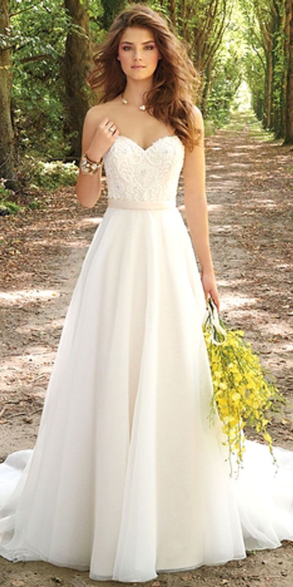 30 Simple Wedding Dresses For Elegant Brides Beauty Pinterest Dress Organza And