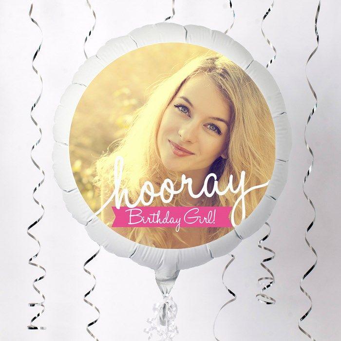 Photo Upload Large Helium Balloon - Birthday Girl | GettingPersonal.co.uk