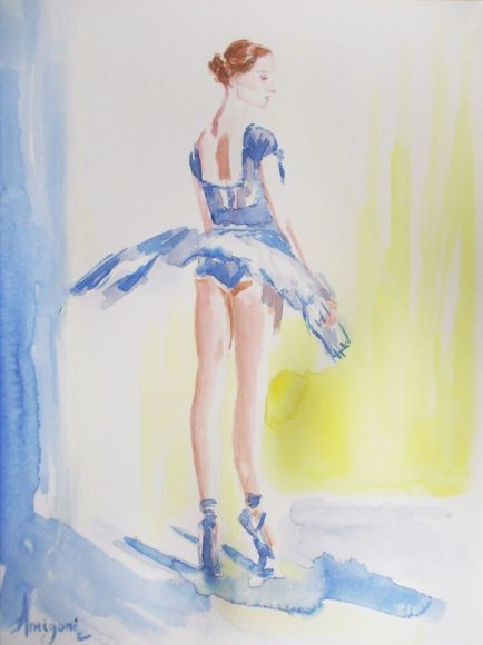 Ballerina 16- Original ballet watercolor painting