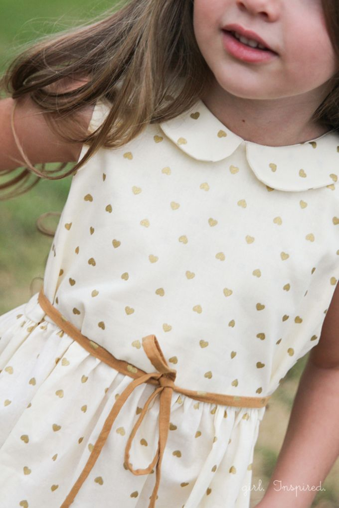 gold heart-dotted fabric at Jo-Ann
