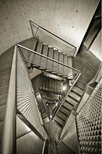 Stairs at Yale University Art Gallery - Louis Kahn