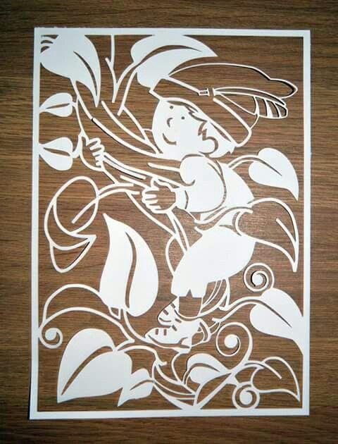 Jack and the beanstalk paper cut by artist Gemma Crossley #art…