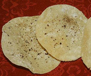 poppadoms. gives me licence to make any dip I want, served with poppadoms.