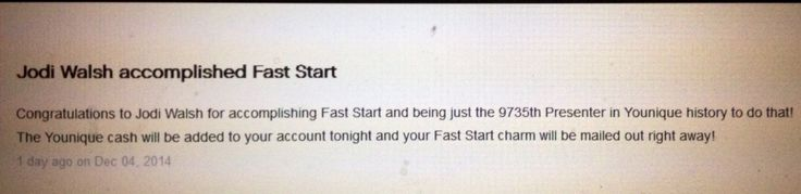 December 4th fast start ! Way to go x