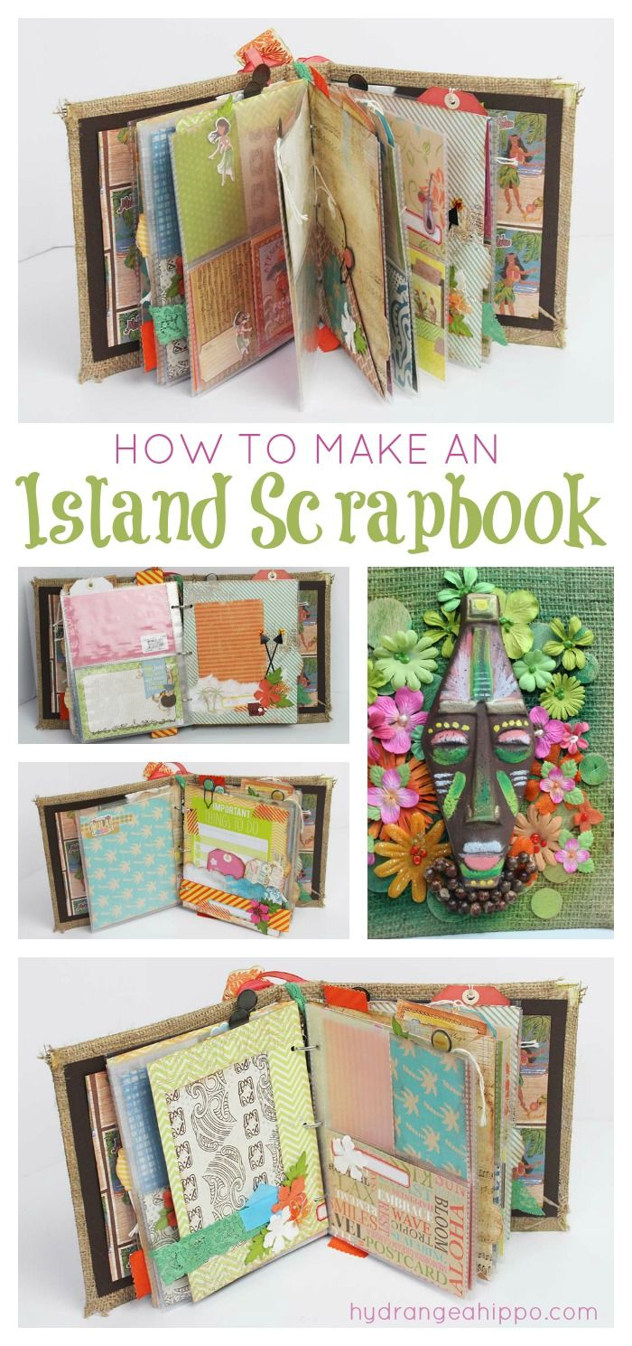 How to make an island hawaii scrapbook Collage