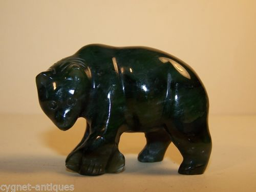Vintage-Estate-Hand-Carved-Canadian-Jade-Bear-with-Salmon