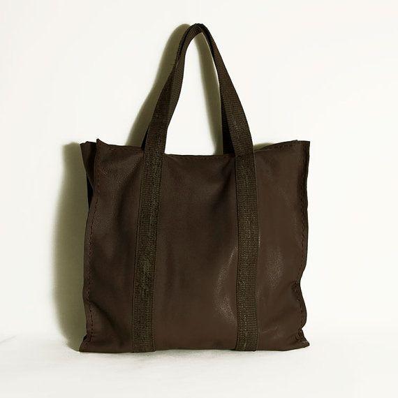 Brown leather bag Winter finds Christmas gift by ElenaVandelliBags