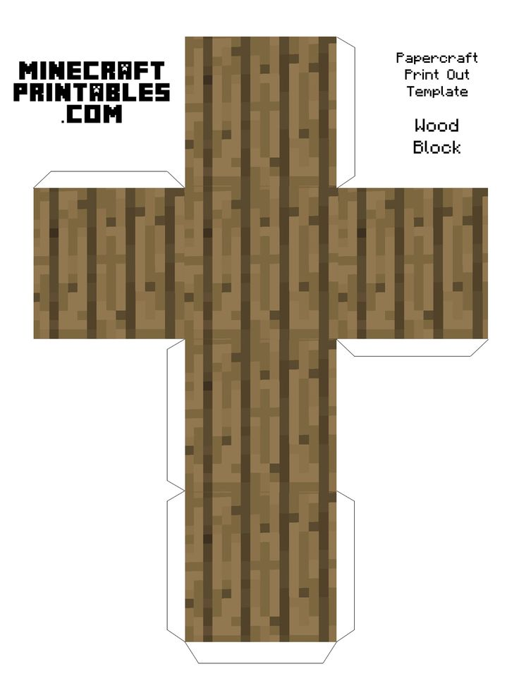 Wood Block Minecraft Blocks Minecraft Wood Blocks