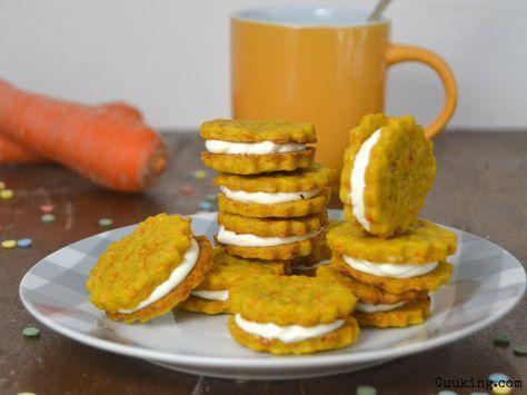 Galletas de zanahoria rellenas de crema de queso   Cuuking! Recetas de cocina