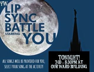 LIP SYNC BATTLE (QUICK IDEA SERIES) 4 OF 4 | Jolly Rogers' Young Women Blog - LDS Young Women Mutual Activity Ideas and More! | Bloglovin'