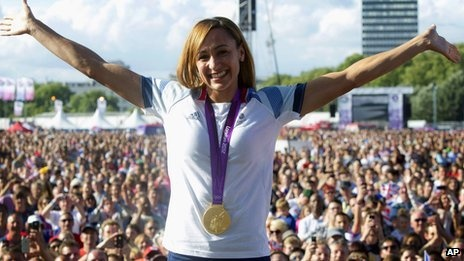 Yorkshire - the Golden County in GB -Jessica Ennis - As countries on the medal table are ranked by golds won, Ennis's subsequent win would now put an independent Yorkshire 11th on the alternative table - above North Korea and below Hungary.  Jessica Ennis (gold), cyclist Ed Clancy (gold and bronze), rower Andrew Triggs-Hodge (gold-winning men's coxless fours crew), Katherine Copeland (gold, women's lightweight double sculls) and Lizzie Armitstead (silver in the women's cycling road race.)