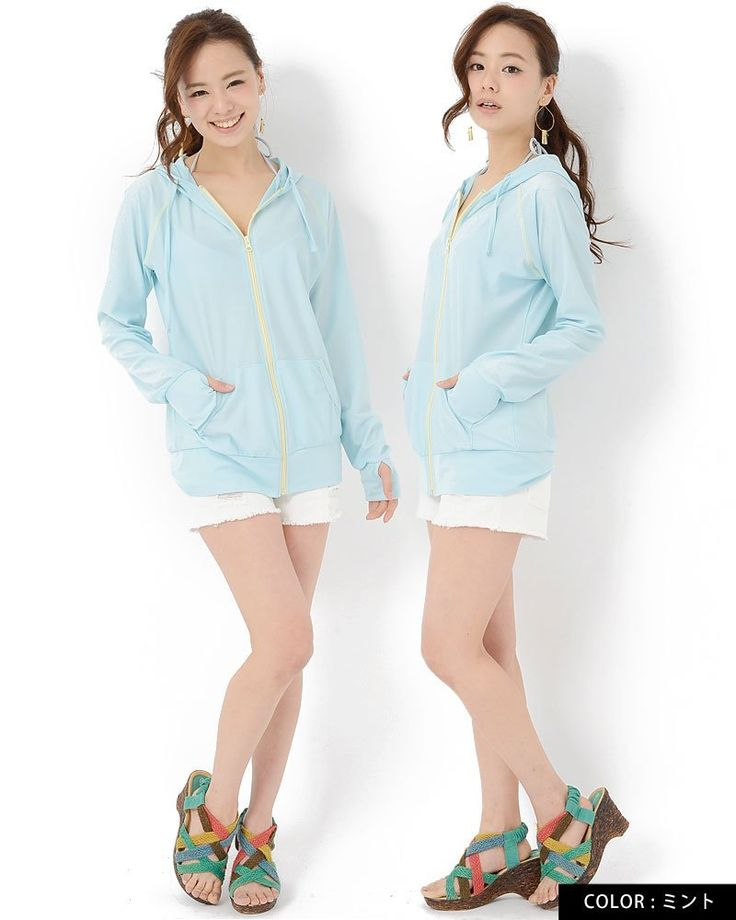 Amazon.co.jp: JACK PORT(ジャックポート) UV対策 ジップアップ パーカー ラッシュガード 指穴付き 長袖 無地 花柄 JK120340: 服&ファッション小物