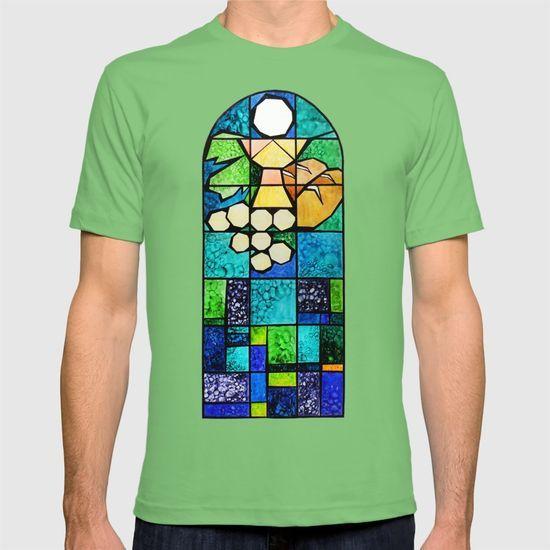 Qubism, square, bread, vine, Last Supper, Jesus, Christ T-shirt