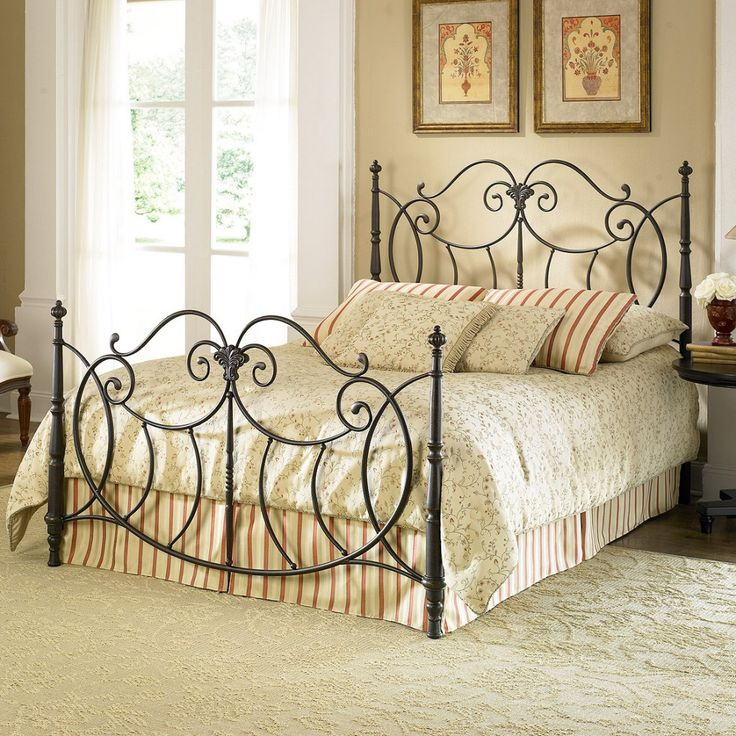 find this pin and more on iron bed frames - Wrought Iron Bed Frame