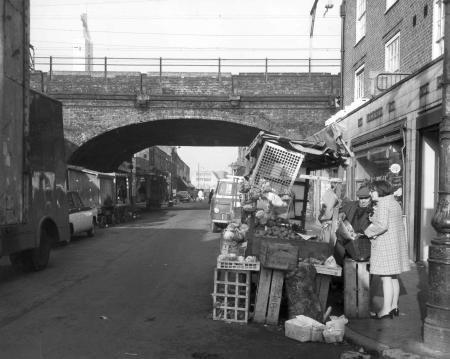 Watney Street, Shadwell, London, E1. 1970