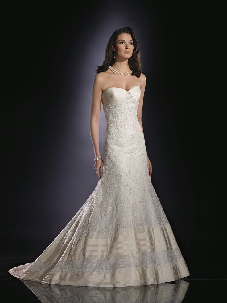 low cost wedding dresses in atlantga%0A James Clifford J     Sstore style        Strapless silk taffeta and lace  Aline
