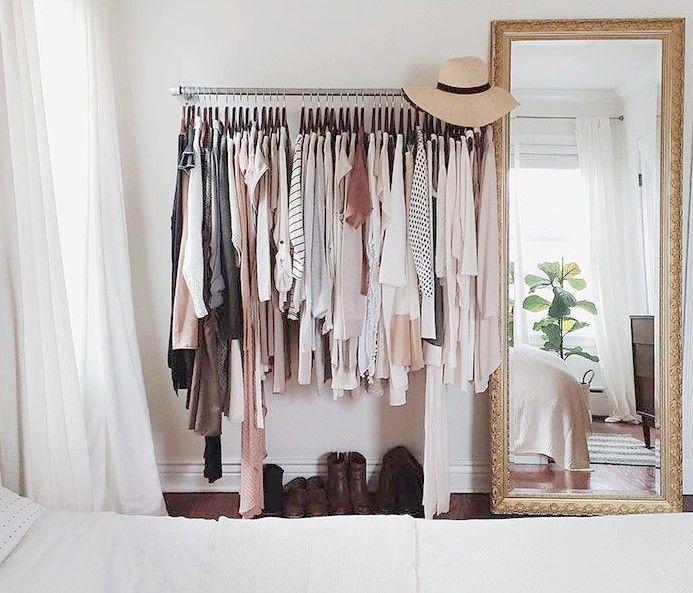las mejores ideas para un dormitorio con vestidor abierto