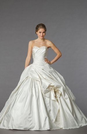 Bridal Gowns: Stephen Yearick Princess/Ball Gown Wedding Dress with Sweetheart Neckline and Dropped Waist Waistline