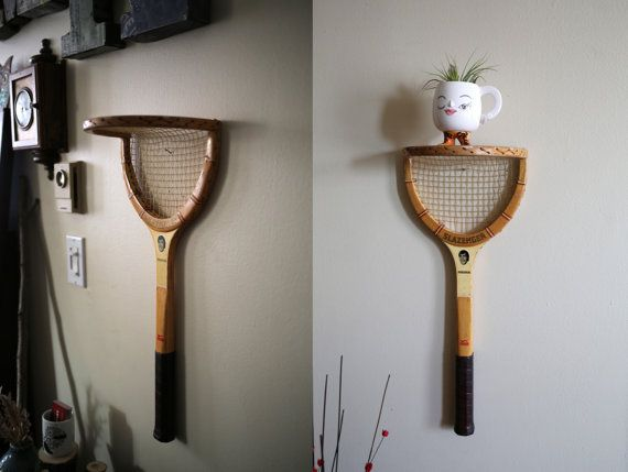 Show off your tennis trophies with a tennis wall shelf!