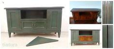 En este trabajo se reprodujo sobre el mueble cerezo, el acabado verde lacado y envejecido de la muestra aportada por nuestro cliente.  http://www.tintura.es/a-medida/ #TallerTintura #Tintura #MueblesPintados http://www.tintura.es/a-medida/