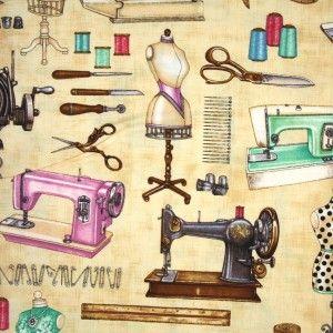 Mrs. Sew & Sew - Beige - Fabric