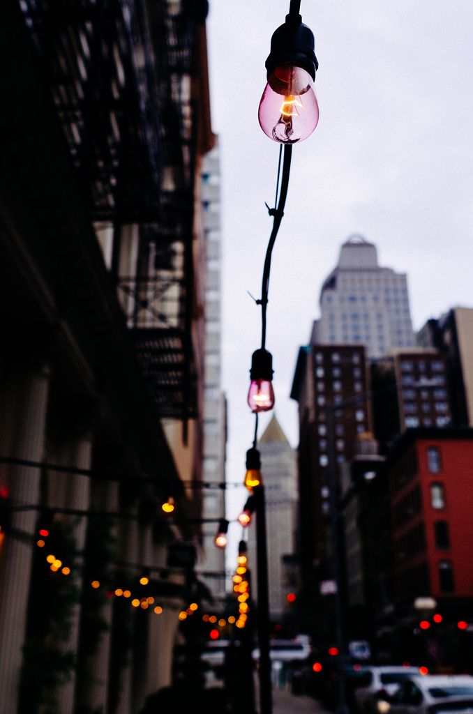 Street lights in Tribeca, NYC. Photo: Joel Zimmer, taken 9 August 2013.