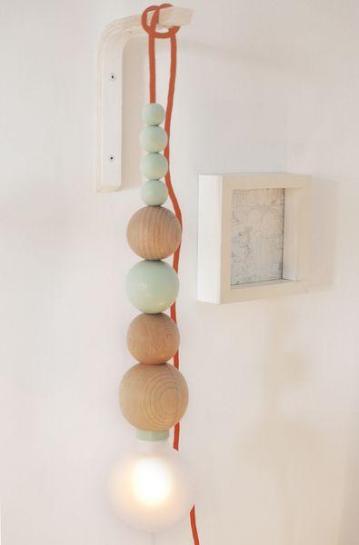 Wandleuchten - Wandlampe, aus Holz - ein Designerstück von min-jon bei DaWanda