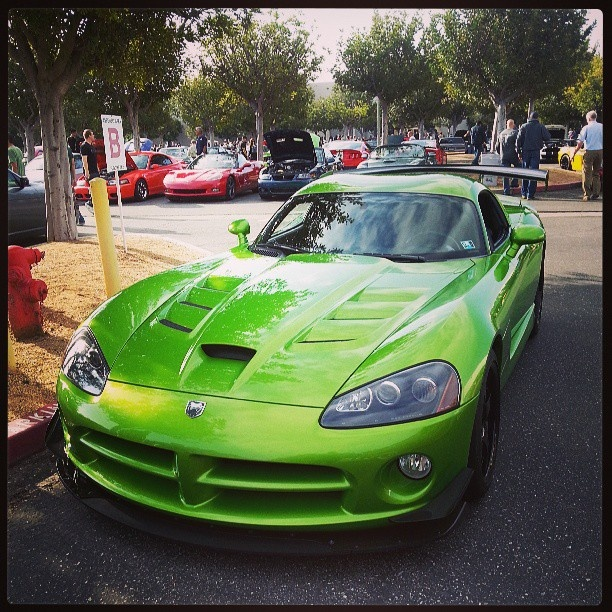 Shreks first sports car! He has good taste! (in cars) -Dodge Viper!