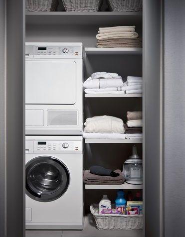 Bagno piccolo con lavatrice - Bagno con piccolo angolo lavanderia