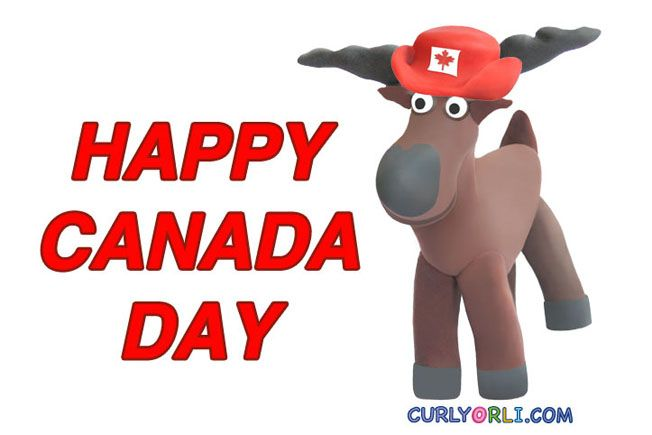 Canada Day Crafts for Kids. Making Baby Moose with clay