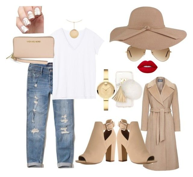 """""""Kasual Kardashian"""" by wendygonewild on Polyvore featuring Hollister Co., Ray-Ban, Michael Kors, Kenneth Jay Lane, Movado, Ashlyn'd and Lime Crime"""