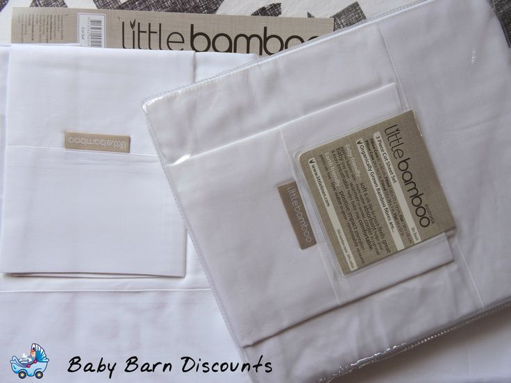 Little Bamboo Cot Sheet Set 70% bamboo rayon 30% cotton. Each sheet set contains: 1 x Flat Sheet 138 x 145cm, 1 x Fitted Sheet 135 x 77 x 19cm (fits Boori), 1 x Pillowcase 61 x 42cm