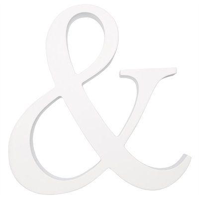 white ampersand