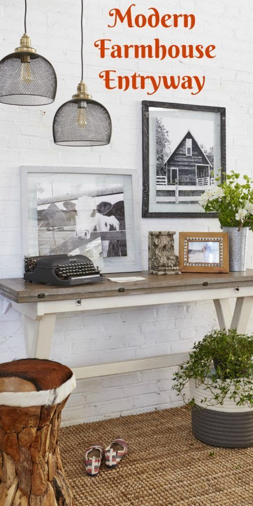 49 best small entryway decor images on pinterest for Modern farmhouse mudroom