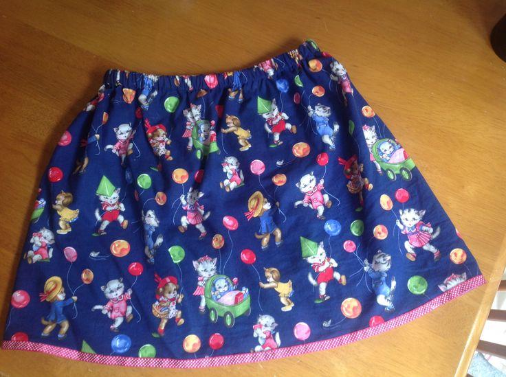 Simple girls skirt - Ella's cat skirt